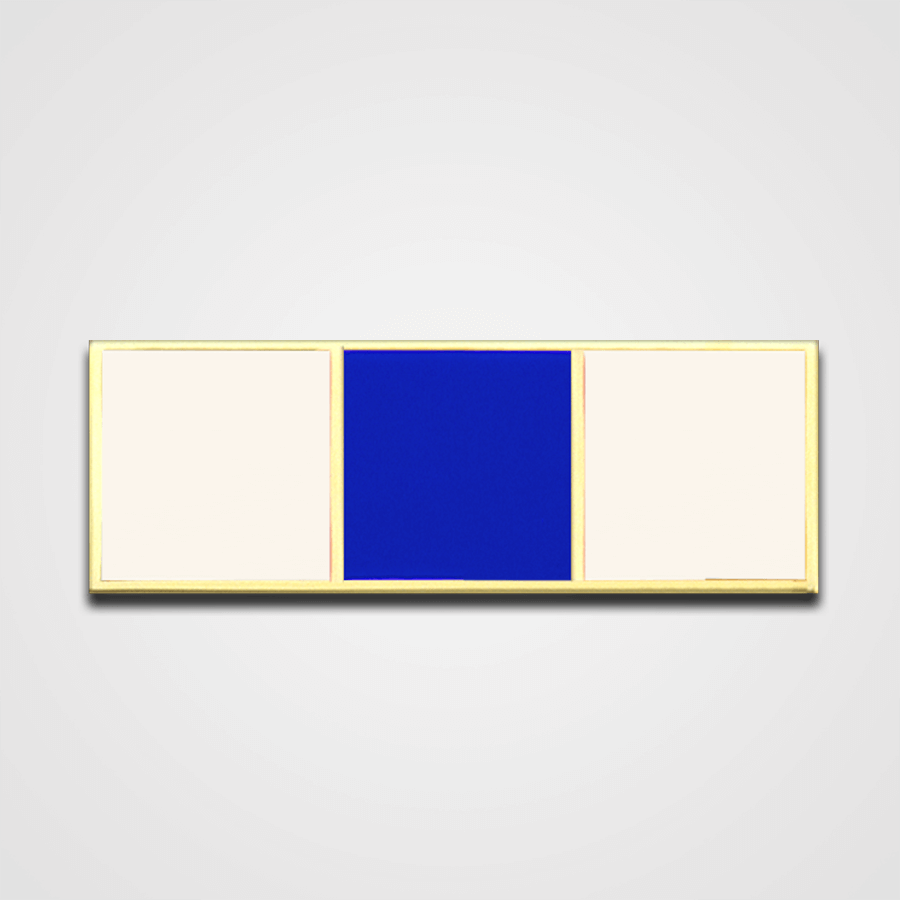 3-Stripe White/Blue Merit Pin-Bar