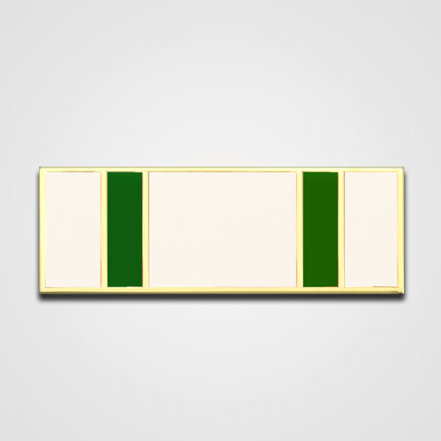5-Stripe White/Green Merit Pin-Bar