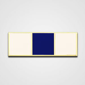 3-Stripe White/Navy Merit Pin-Bar