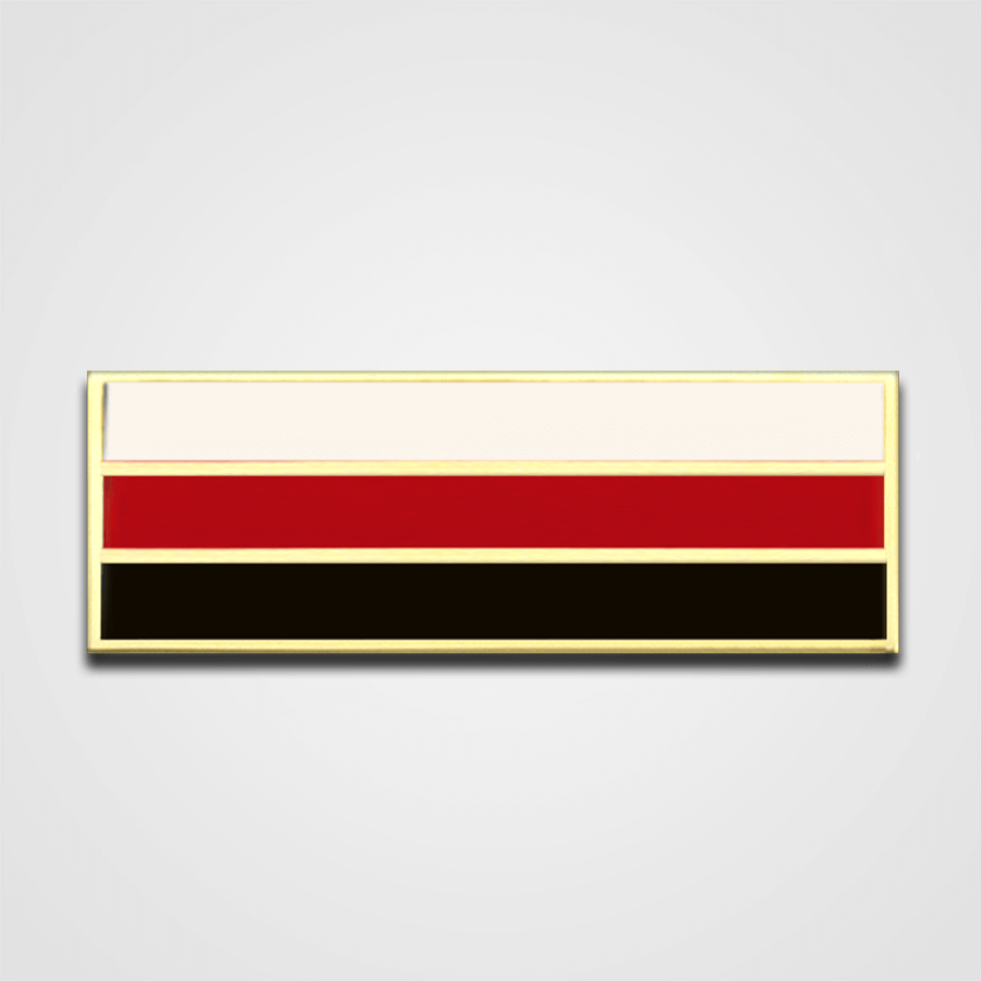 3-Star White/Red/Black Merit Pin-Bar