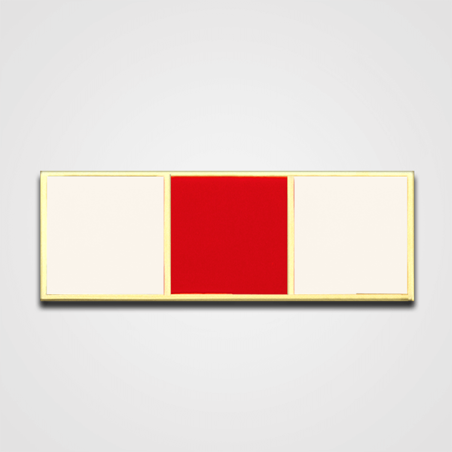 3-Stripe White/Red Merit Pin-Bar