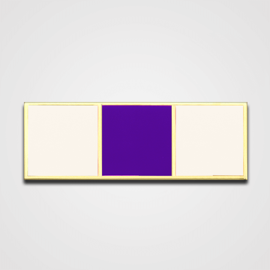 Load image into Gallery viewer, 3-Stripe White/Purple Merit Pin-Bar