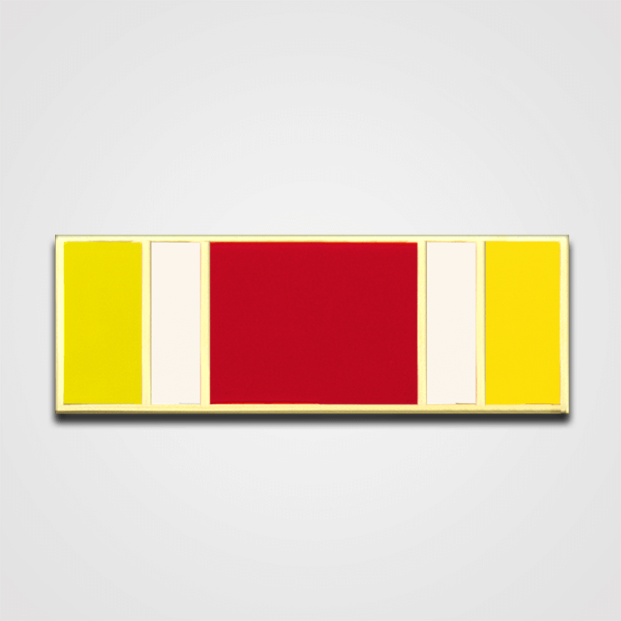 Load image into Gallery viewer, 5-Stripe Yellow/White/Red Merit Pin-Bar