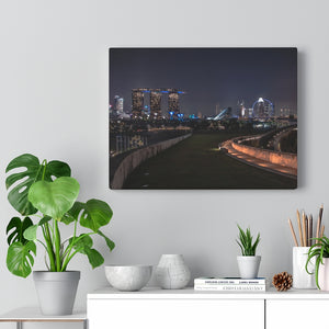 Singapore (Marina Barrage) Canvas Gallery Wraps