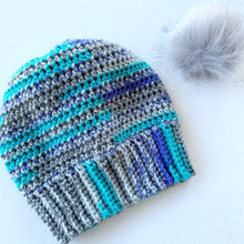 Load image into Gallery viewer, Blue and Gray Beanie