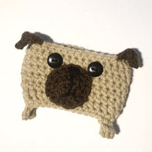 Load image into Gallery viewer, Crochet Pug Coffee Cozy