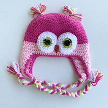 Load image into Gallery viewer, Pink Owl Beanie