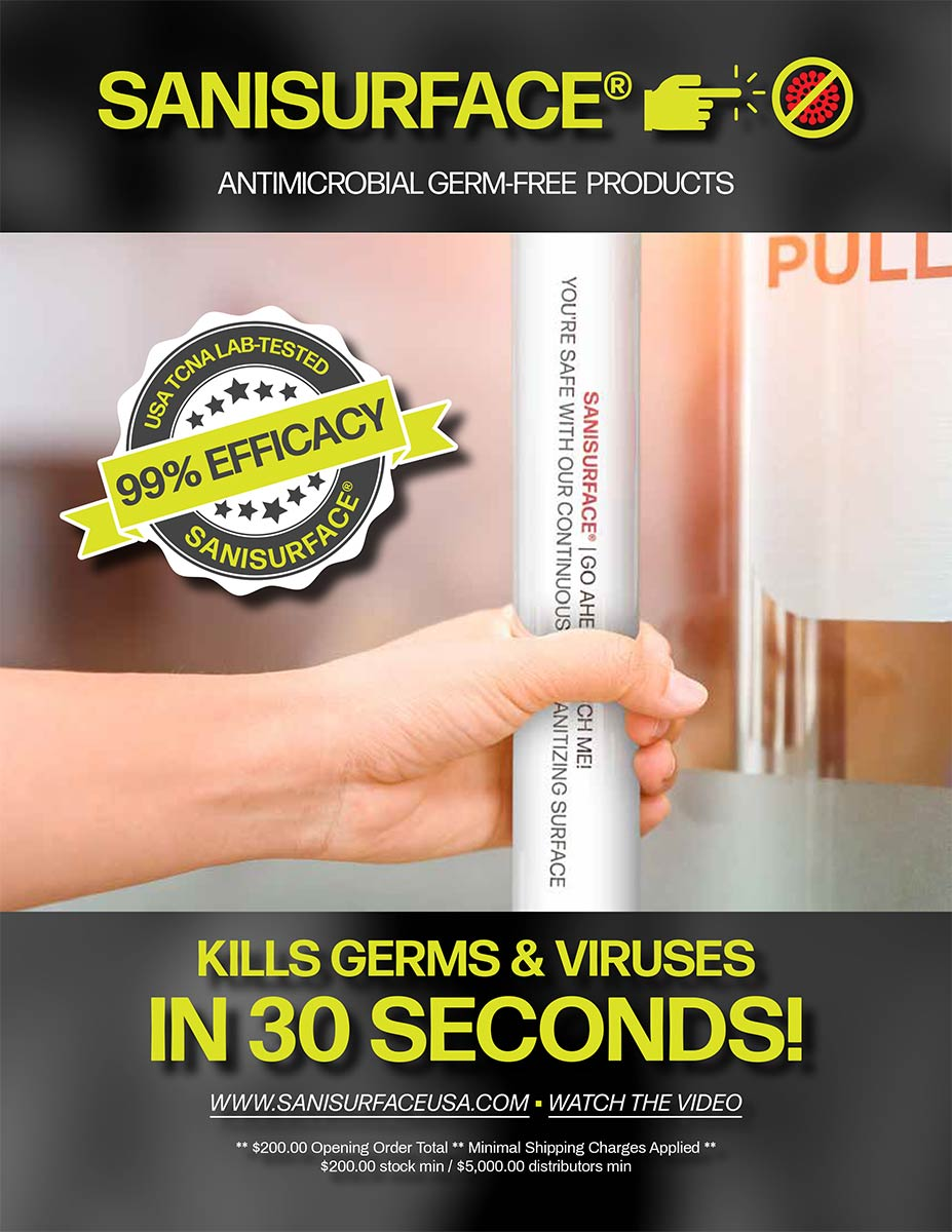 SANISURFACE Kills Germs and Viruses in 30 seconds catalog image