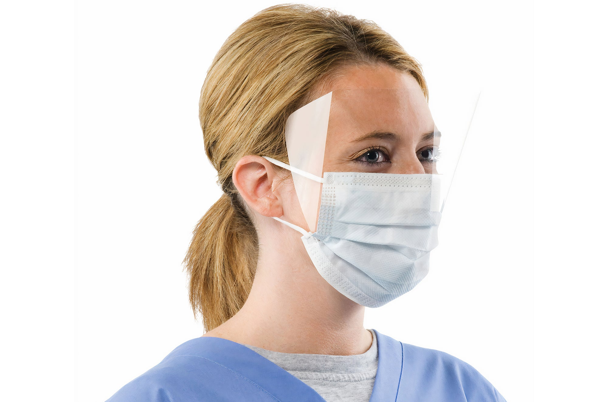 1617 3 ply Mask with Attached Face Shield | PPE Advantate powered by dS Product Hunters