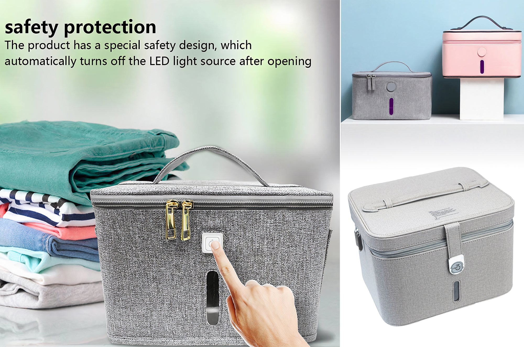 1643 LED UV Portable Sanitizer Bag | PPE Advantate powered by dS Product Hunters