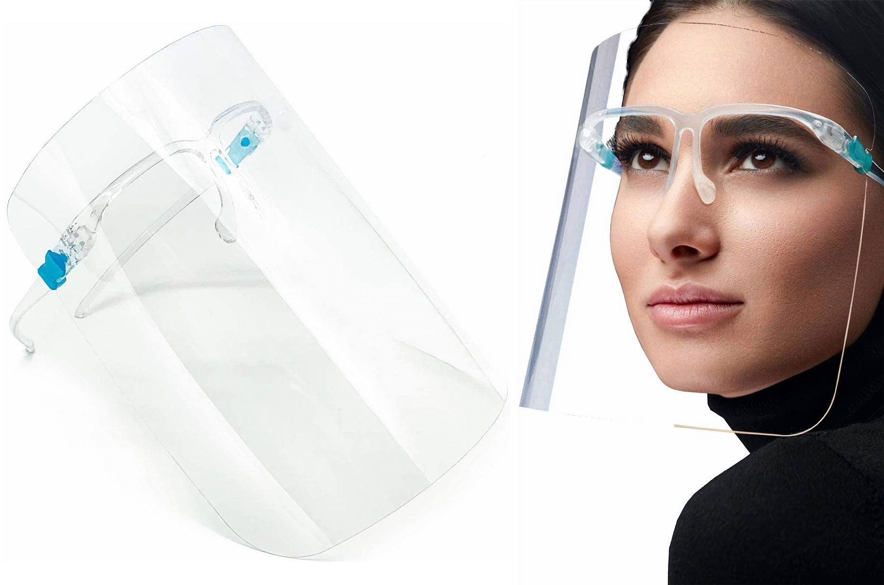 1663 Fashionable Face Visor with Glasses | PPE Advantate powered by dS Product Hunters