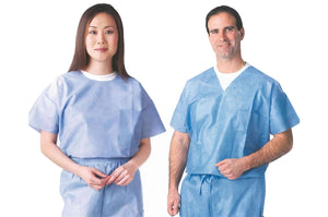 1673 Disposable Scrubs - Sold in Sets / Sizes Small thru 2 XL | PPE Advantate powered by dS Product Hunters