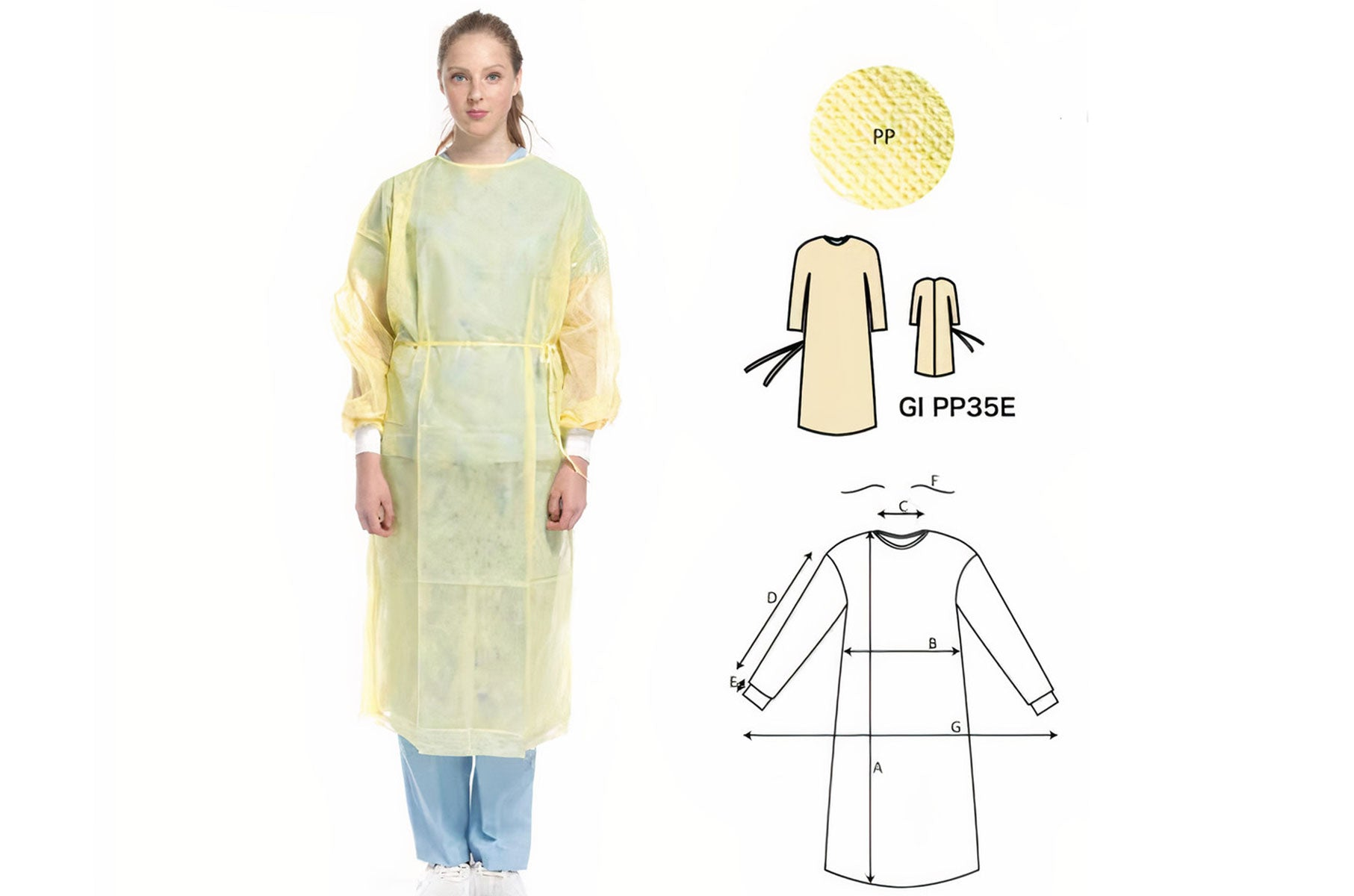1684 Isolatin Gown Level 1 - Water Repellent - 10pc Sets - Sizes XS-XXL  AAMI CERTIFIED' | PPE Advantate powered by dS Product Hunters