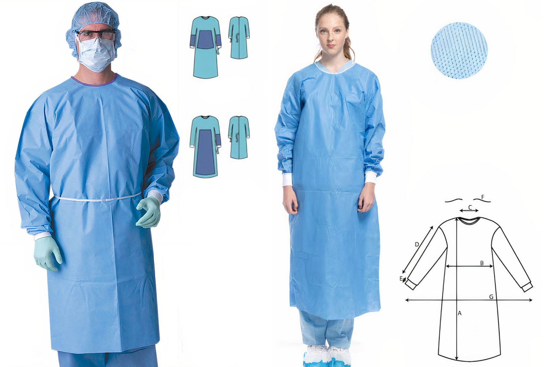 1686 Sugical Gown Level 3 - Sizes XS-XXL AAMI CERTIFIED | PPE Advantate powered by dS Product Hunters