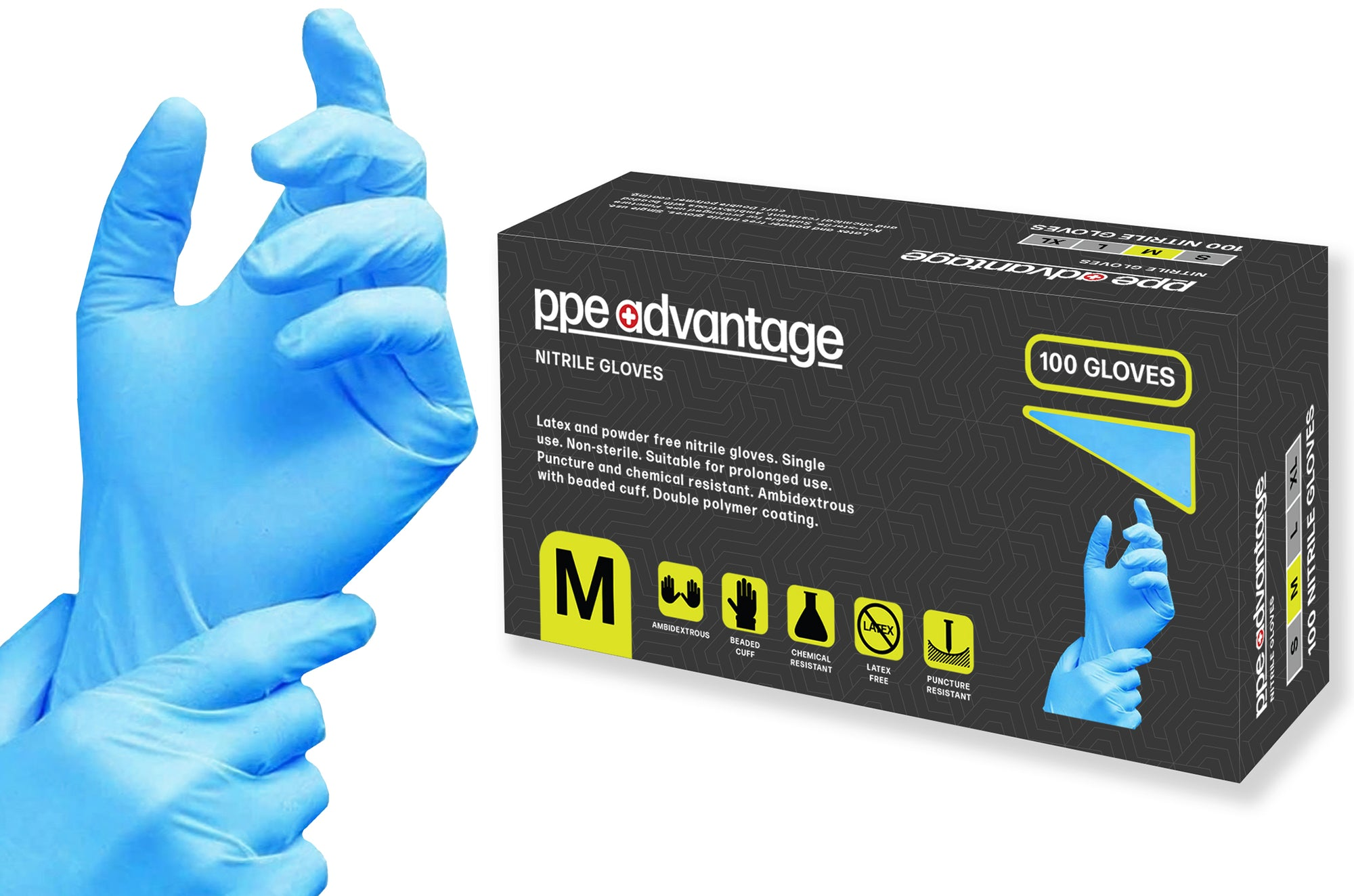 3001 PPE Advantage Nitrile Disposable Gloves | PPE Advantate powered by dS Product Hunters