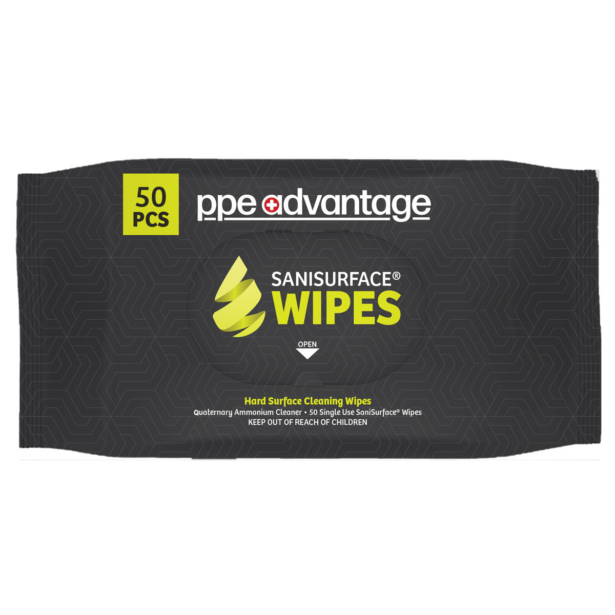 3032 PPE Advantage Sanisurface¨ Wipes (50) Bag - PPEA Branded Label EPA REGISTERED FACTORY | PPE Advantate powered by dS Product Hunters