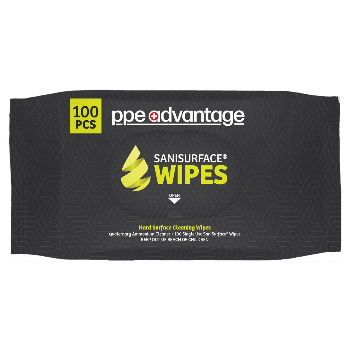 3033 PPE Advantage Sanisurface¨ Wipes (100) Bag- PPEA Branded Label EPA REGISTERED FACTORY | PPE Advantate powered by dS Product Hunters