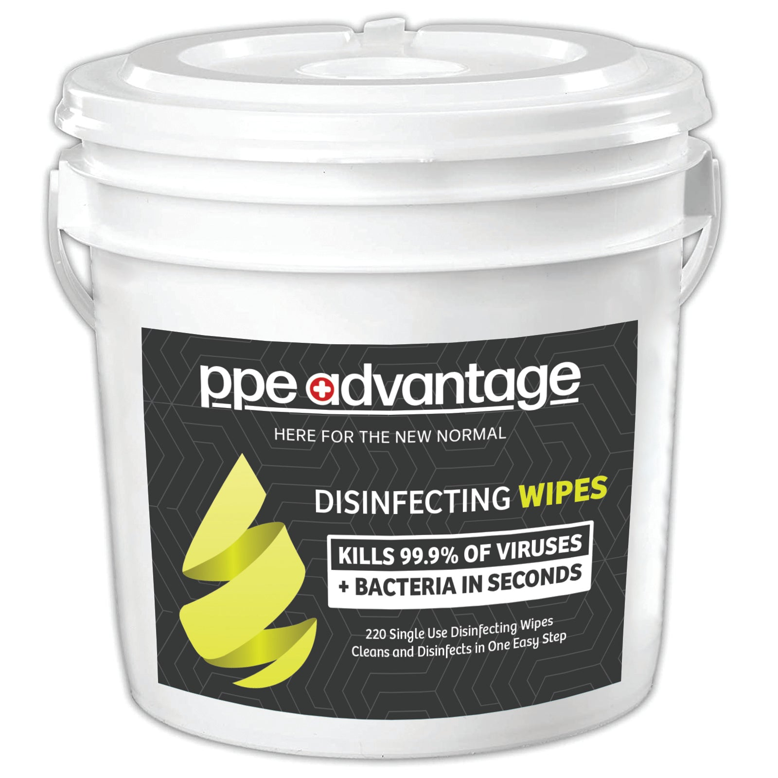 3036 PPE Advantage Disinfecting Wipes (220) Tub- PPEA Branded Label