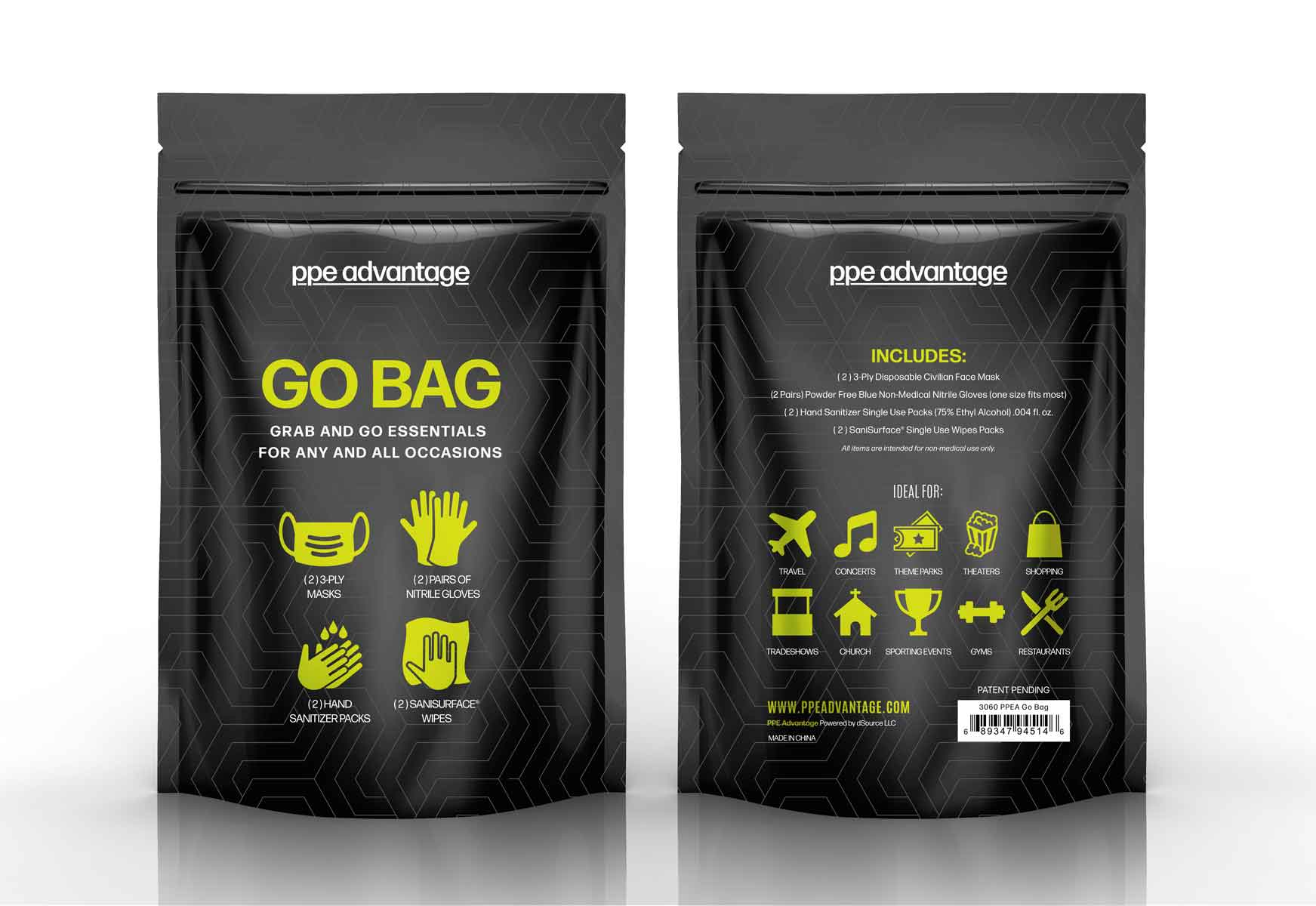 3060 THE GO BAG  | PPE Advantate powered by dS Product Hunters