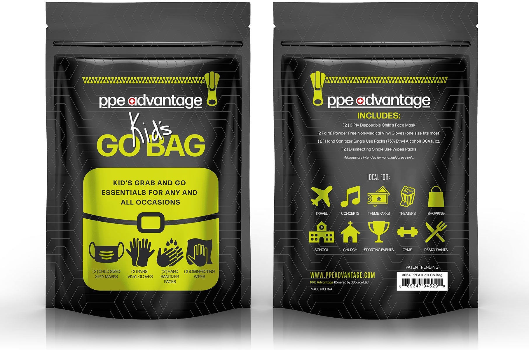 3064 GoBag for Kids -Grab and Go Essentials | PPE Advantate powered by dS Product Hunters