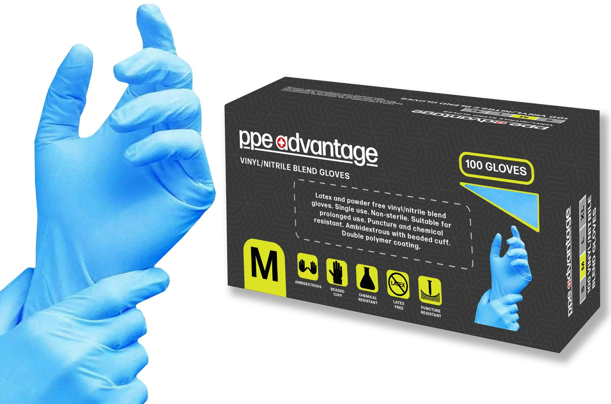 3163 PPE Advantage Vinyl / Nitrile Blend Gloves - Non Medical | PPE Advantate powered by dS Product Hunters