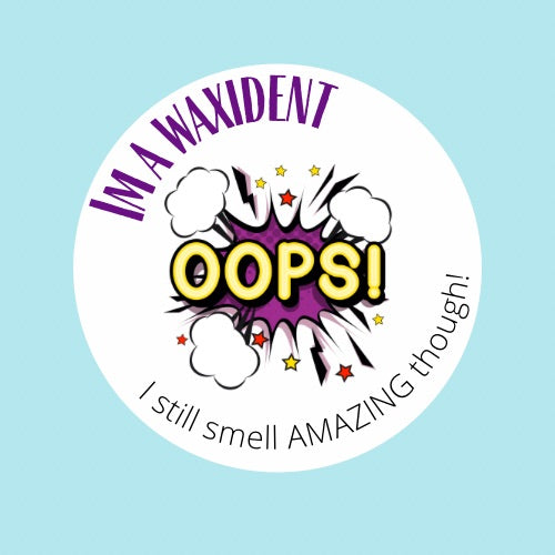 Waxident sticker