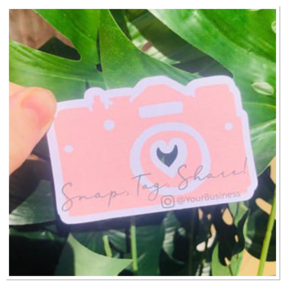 Snap tag share camera cards