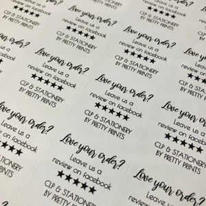 Love your order stickers