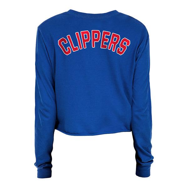 Ladies New Era Clippers Long-Sleeve Crop Top