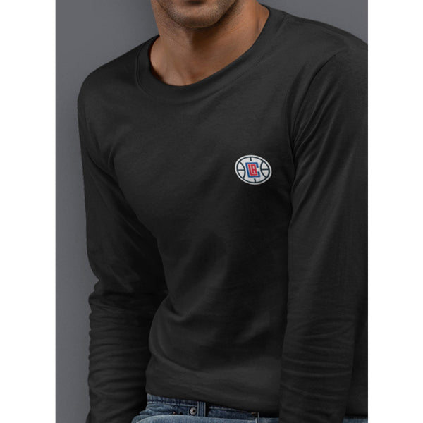 Embroidered Patch Long Sleeve T-Shirt