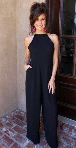 Criss Cross Black Jumpsuit