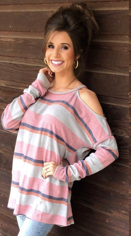 Above The Line Open Shoulder Tunic
