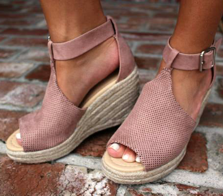 Rose Pink Wedge