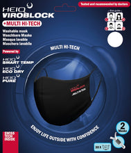 Load image into Gallery viewer, HeiQ Viroblock +Multi Hi-Tech washable masks, black, 2pcs (CH)