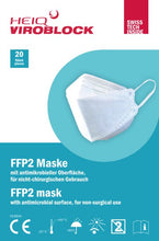 Load image into Gallery viewer, HeiQ Viroblock FFP2 masks, 20 pcs (EU/UK)