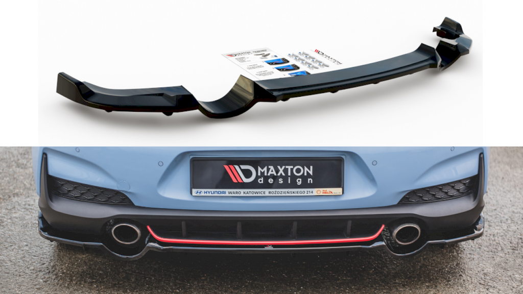 CENTRAL REAR SPLITTER (WITH VERTICAL BARS) HYUNDAI I30 N MK3 HATCHBACK (2017-)