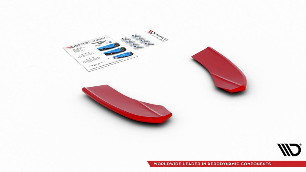 REAR SIDE SPLITTERS V2 HYUNDAI I30 MK3 N (RED) 2017-