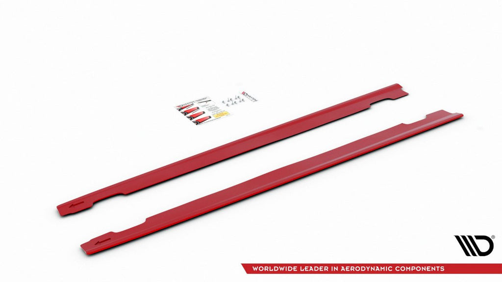 SIDE SKIRTS DIFFUSERS V3 HYUNDAI I30 MK3 N (RED) 2017-