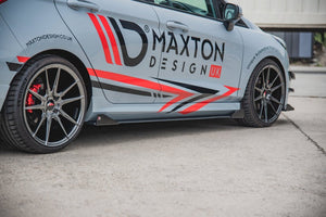 MAXTON RACING SIDE SKIRT SPLITTERS(+FLAPS) FORD FIESTA MK8 ST/ ST LINE