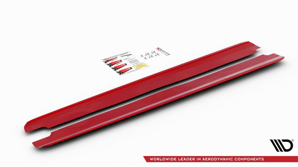 SIDE SKIRTS DIFFUSERS V2 HYUNDAI I30 MK3 N (RED) 2017-