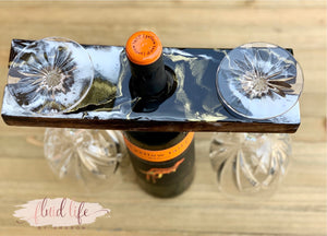 Wine bottle wooden caddy