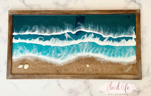Large rectangular ocean wall decor
