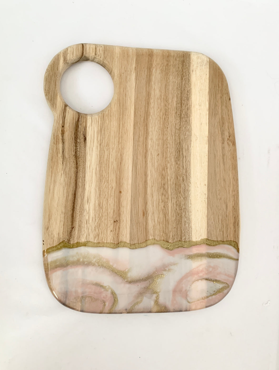 Dusty Pink and White Cuttingboard