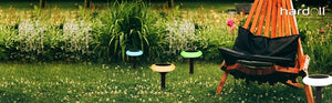Hardoll Multi colour Automatic LED Solar Garden Disc Lights for Home Outdoor