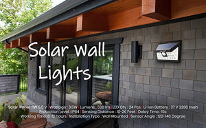 Automatic Wall Lights with Motion Sensor for Home Outdoor Garden | Hardoll Enterprises