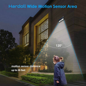 Hardoll 44 LED Solar Lamp Outdoor Motion Sensor Security waterproof lights for Home Garden Wall