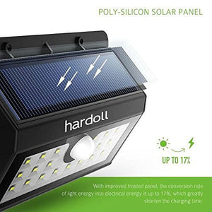 Hardoll 20 LED Solar Lamp Outdoor Motion Sensor Security waterproof automatic lights for Home Garden wall