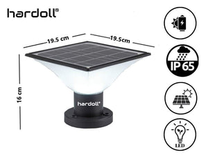 Hardoll Solar 20 LED Lights for Outdoor Home Garden Waterproof Pillar Wall Gate Post Lamp(Multiple Color Modes)