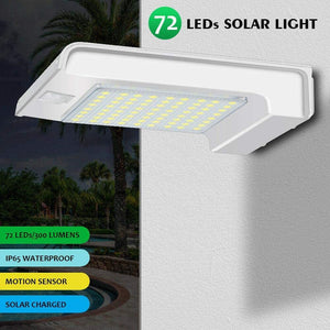 Hardoll 72 LED  Solar Motion Sensor waterproof outdoor security flood light for home garden gate wall Lamp (Refurbished)