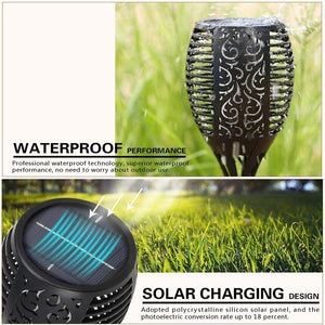 Hardoll Solar Lights for Home Waterproof Flickering Flames Torches Outdoor Landscape Lights for Decoration for Garden